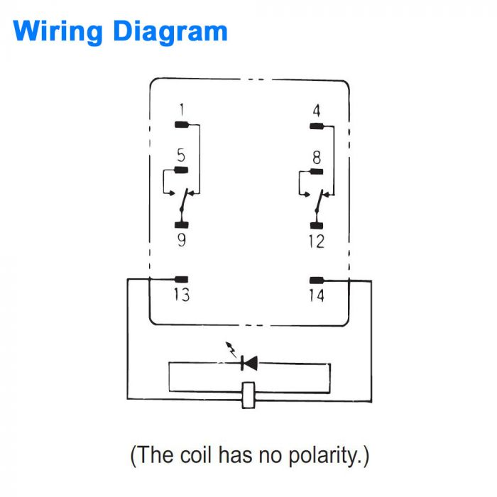 General Purpose Relay - DPDT 24 VDC Coil | 120vac Relay Wiring Diagram |  | Wintriss Controls